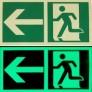 cartello uscita di emergenza fotoluminescente E001 - E002