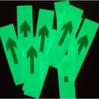 Frecce adesive fotoluminescente