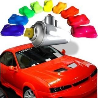Vernice automobile in spray fluorescente