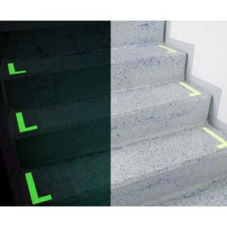 Pennarelli fotoluminiscenti in L per marce di scale